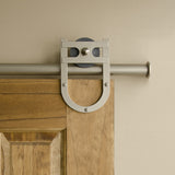 Satin - Lucky Charm Satin Nickel Single - Barn Door Hardware Kit