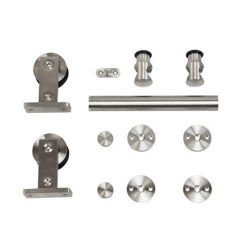 European Style Top-Mount Stainless Steel Rolling Door Hardware Kit