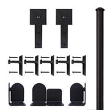 Black - Black Shakespeare Double - Rolling Door Hardware Kit
