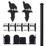 Black - Black Navajo Double - Rolling Door Hardware Kit