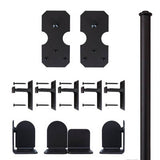Black - Black Bowie Single - Barn Door Hardware Kit