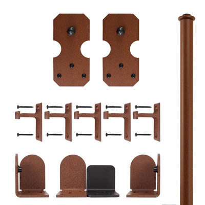 Rust - Bowie New Age Rust Single - Rolling Door Hardware Kit