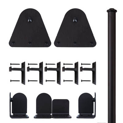 Black - Black Garfield Double - Barn Door Hardware Kit