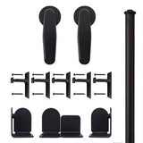 Black - Black Earnhardt Single - Barn Door Hardware Kit