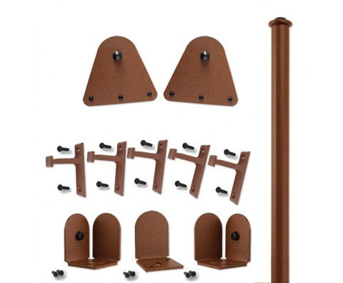 Rust - Garfield New Age Rust Single - Rolling Door Hardware Kit