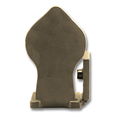 Spade Barn Door Stop, Right, Bronze