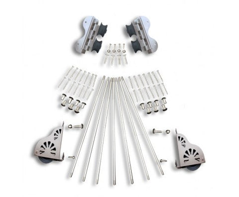 SWIVEL ROLLING W/BRAKE LADDER HARDWARE KIT SATIN NICKEL