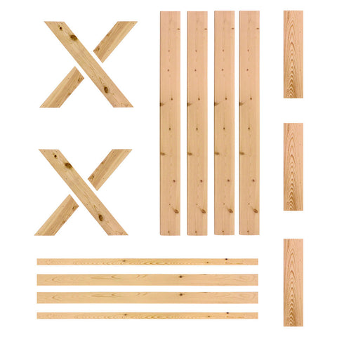 Ready-to-Assemble Unfinished Pine Door