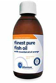 Finest Pure Fish Oil with Essential Oil of Orange - 6.8 fl oz