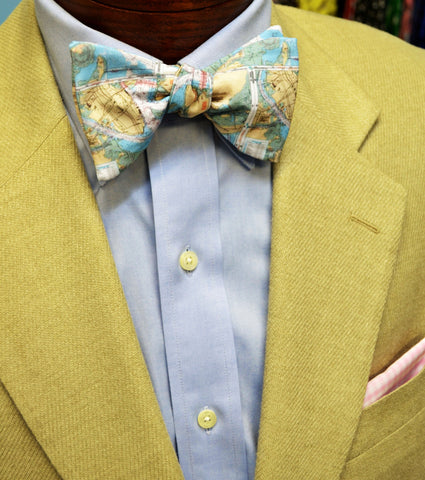 Map Bow Ties