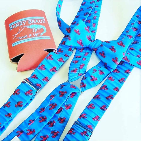 lobster suspenders and bow tie set