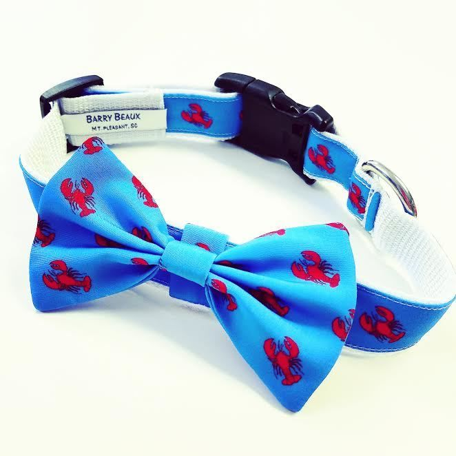 Lobster Dog Collar Bow Tie