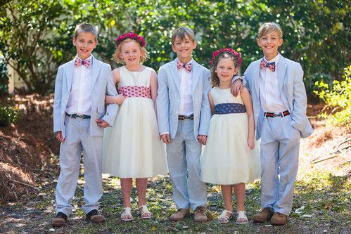 Ring Bearer Bow Ties And Flower Girls Sashes For Custom Wedding