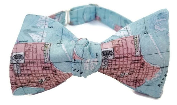Beaufort South Carolina Map Bow Tie