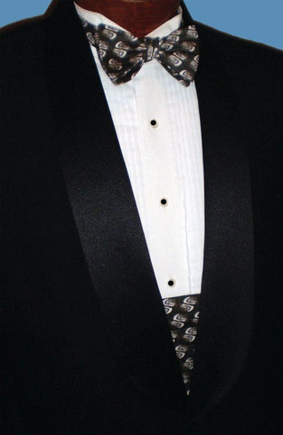 Tuxedo And Bow Tie Cummerbund Set Featuring Oyster Shells