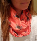 Handmade Barry Beaux Infinity Scarf With Crab Design