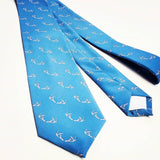 Blue Antler Print Necktie By Barry Beaux
