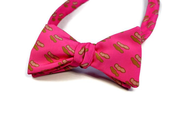 Boiled Peanuts Pink Bow Tie