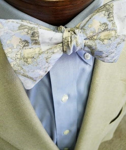 Boston Map Bow Tie