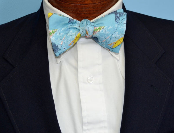 Capers Island South Carolina Map Bow Tie