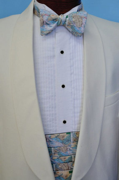 Charleston Chart Map Bow Tie And Cummerbund Set By Barry Beaux