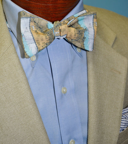 Chicago Map Bow Tie