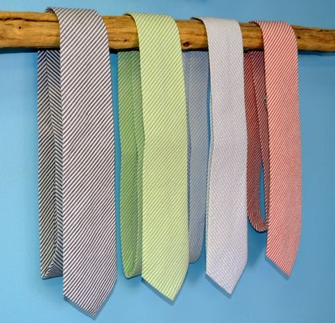 Classic Seersucker Striped Neckties