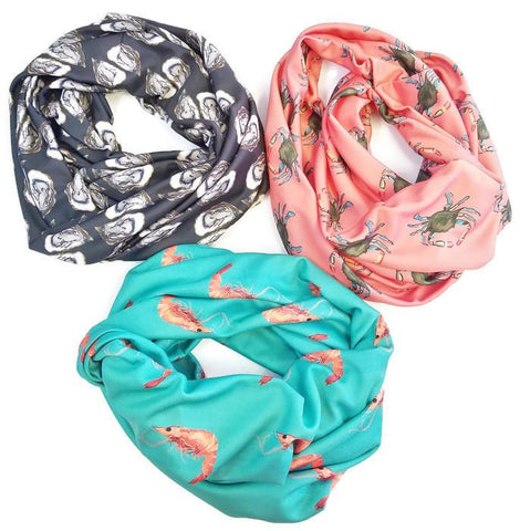 Coastal Designed Handmade Barry Beaux Infinity Scarves