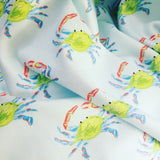 Handmade Barry Beaux Crab Fleece Baby Blanket