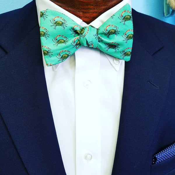 Green Crab Bow Tie