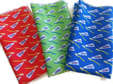Dental Pocket Squares Red Green Blue