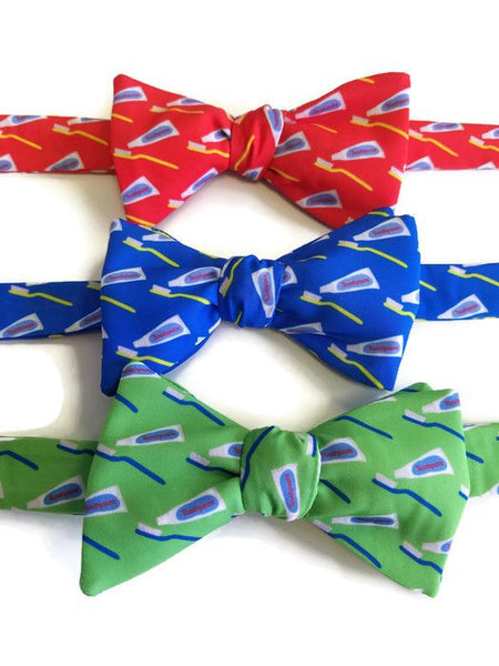 Dental Red Blue Green Bow Ties
