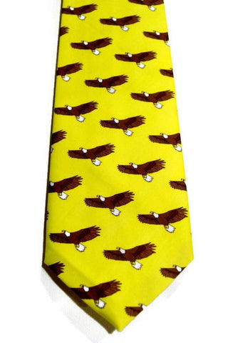 Yellow Necktie featuring Eagles