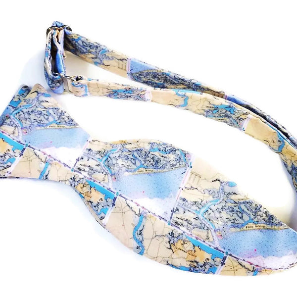 Folly Beach South Carolina Map Bow Tie