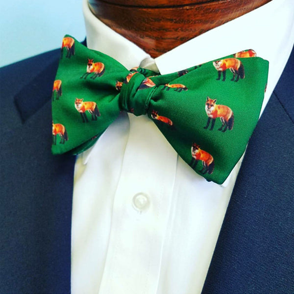 Green Fox Bow Tie