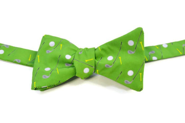 Green Golf Bow Tie