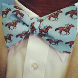 Horse Race Blue Bow Tie