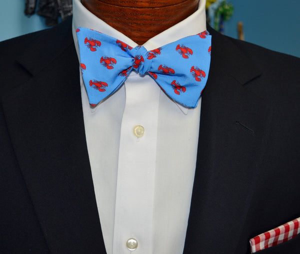 Red Lobster Blue Bow Tie