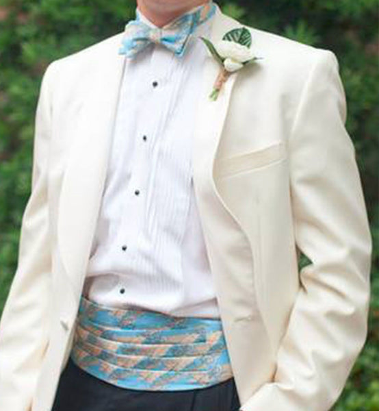 Groom Bow Tie And Cummerbund Set