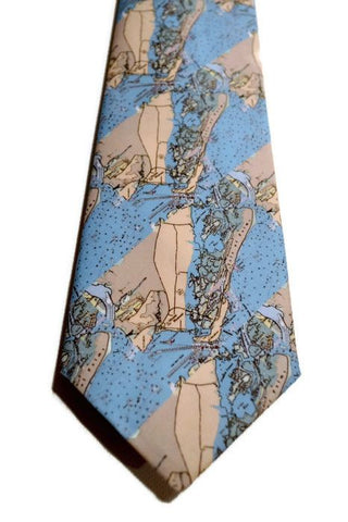 Mount Pleasant And Isle Of Palms South Carolina Map Necktie