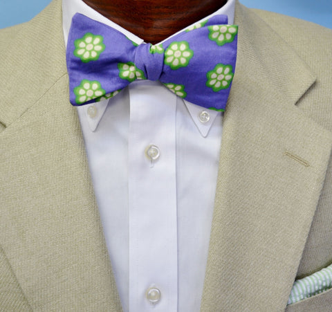 Purple Okra Bow Tie