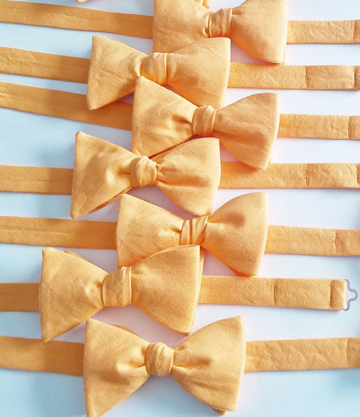 Orange Linen Bow Ties For Charity