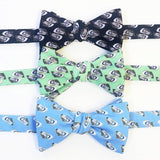 Oyster Shell Bow Ties Black Green Blue