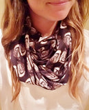 Handmade Barry Beaux Infinity Scarf With Oyster Shells Design