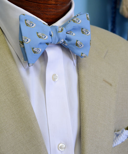 Blue Oysters Bow Tie