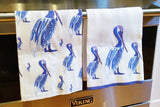 Linen Hand Towels By Barry Beaux Featuring Pelicans