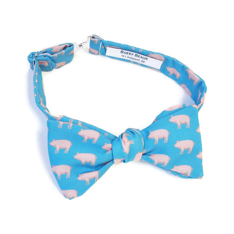 Pig Blue Bow Tie