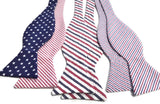 Fourth July Red White Blue Bow Ties