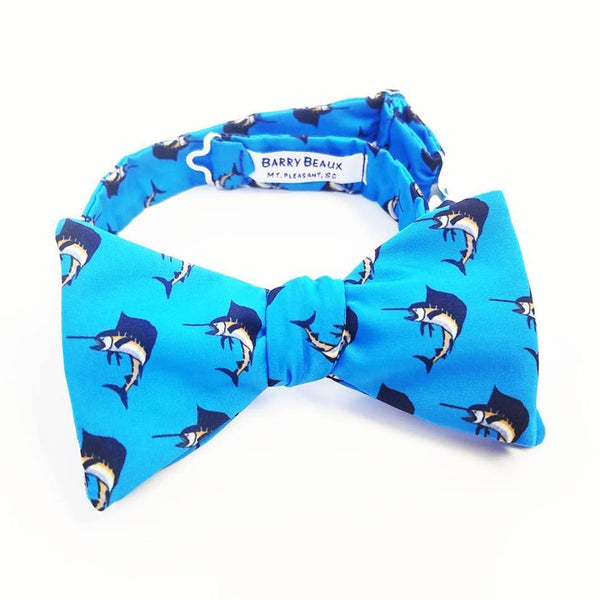 Blue Sailfish Bow Tie