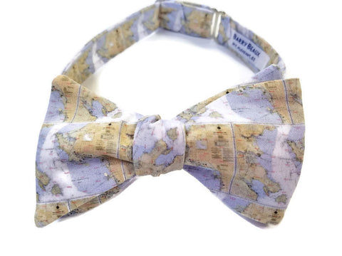 San Francisco Map Bow Tie